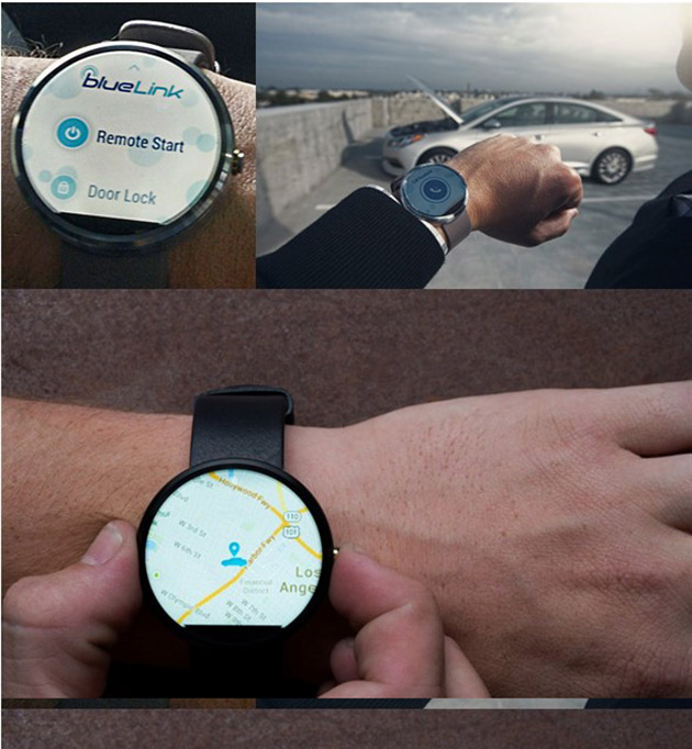 Blue Link, The Hyundai Android Wear App To Control You Car