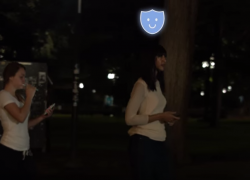 This App will give you a virtual guard when you're walking alone