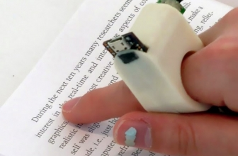 FingerReader Ring, A Device To Help The Vision-Impaired People Reading